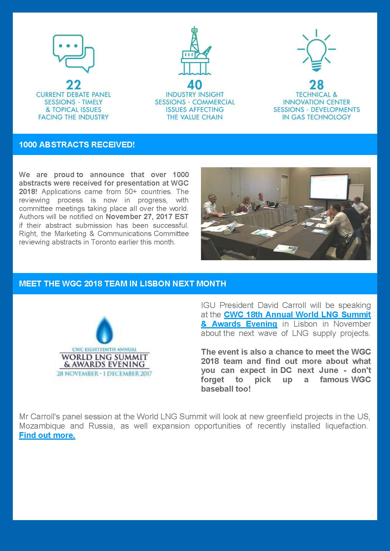 World Gas Conference Newsletter | United States Energy