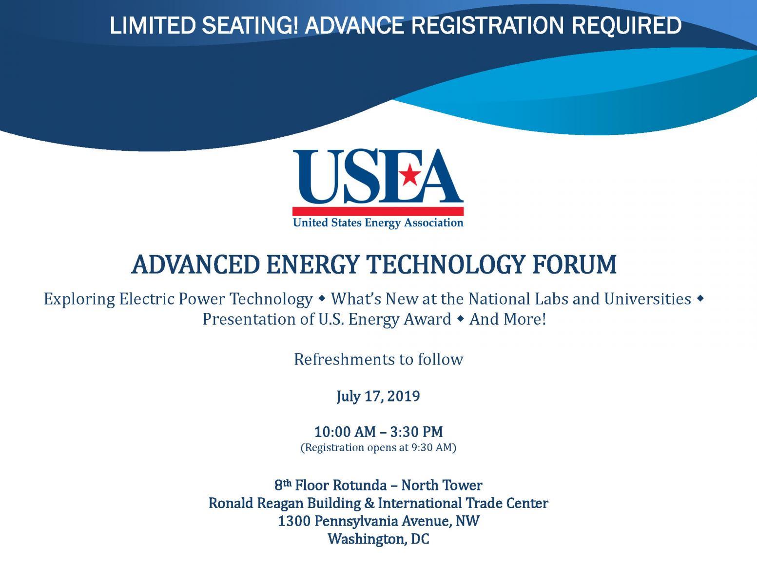 Advanced Energy Technology Forum   United States Energy