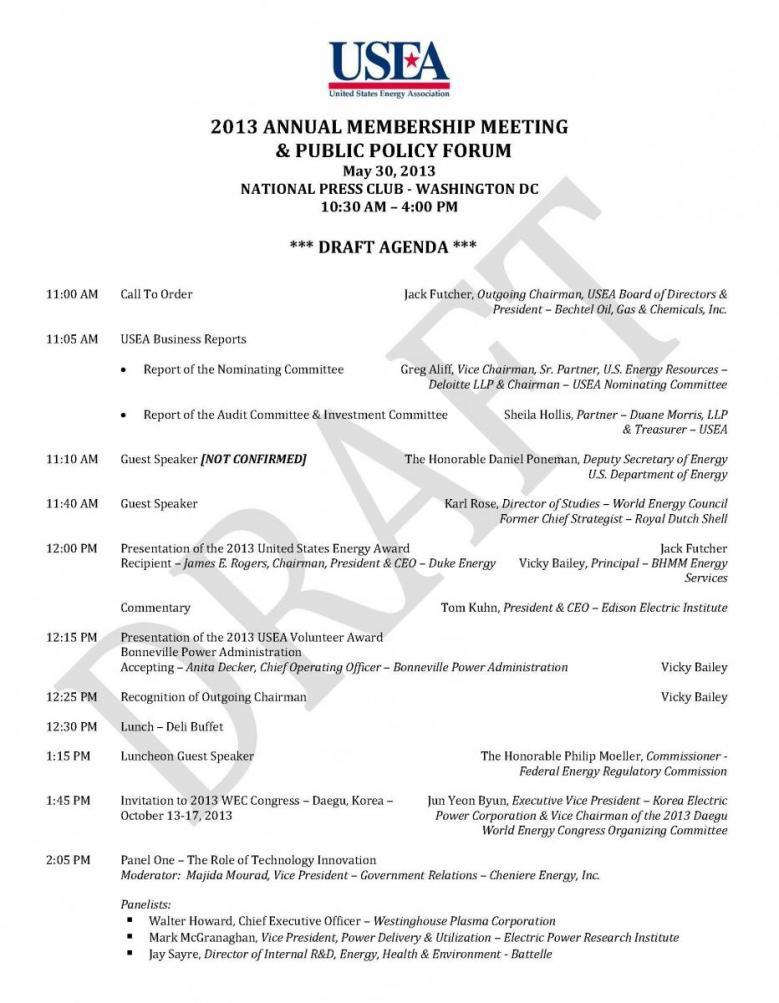 USEA Annual Membership Meeting & Public Policy Forum