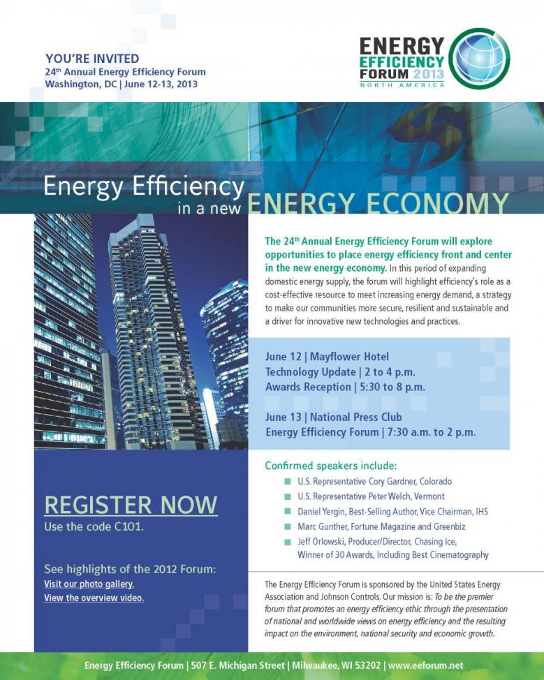 24th Annual Energy Efficiency Forum | United States Energy