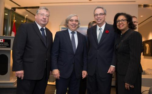 Left to Right: Barry Worthington, Secretary Moniz, Minister Joe Oliver, Vicky Bailey.